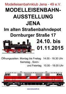 Plakat Modelleisenbahnausstellung
